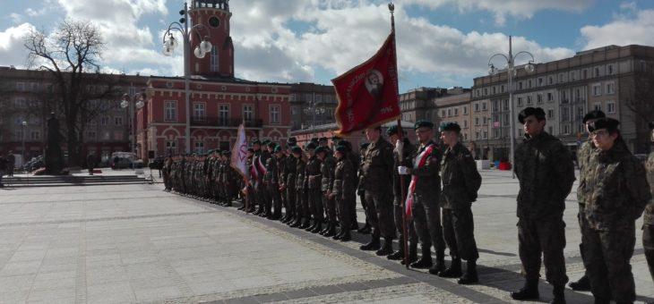 Uroczystości z okazji imienin Marszałka Józefa Piłsudskiego na Placu Biegańskiego
